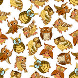 Owl seamless pattern background Royalty Free Stock Photography