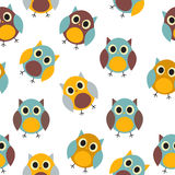Owl Seamless Pattern Background Vector Fotos de archivo libres de regalías