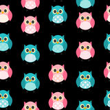 Owl Seamless Pattern Background Vector Fotos de archivo libres de regalías