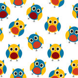 Owl Seamless Pattern Background Vector Photo libre de droits