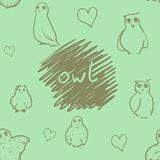 Owl seamless pattern Royalty Free Stock Photos