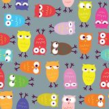 Owl seamless pattern Stock Images