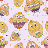 Owl seamless pattern. Cartoon owl seamless pattern on white background. Children's background. Colorful owls.Vector illustration. Hand draw cute owl for baby's Stock Images