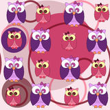 Owl seamless pattern Stock Image