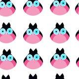Owl seamless pattern flat vector Royalty Free Stock Photos
