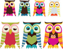 Owl Set Stock Photo
