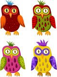 Owl set. Vector Illustration of a owl set Royalty Free Stock Photos