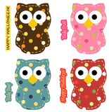 Owl Set. Cute owl set for special occasions Stock Photos