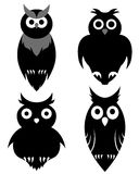 Owl set Stock Photography