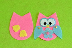 Owl sewing pattern. Stock Photo