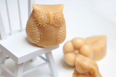 Owl shaped handmade soap Royalty Free Stock Photography