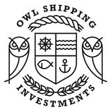 Owl Shipping Logo Template royalty-vrije stock afbeelding