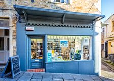 The Owl shop front in Frome Stock Image