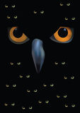 Owl silhouette on moon background Royalty Free Stock Photography