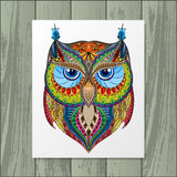 Owl silhouette with paper Royalty Free Stock Images