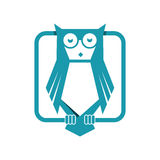 Owl. Simple and sleek owl illustration Stock Image