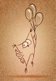 Owl sketch. Decorative vintage illustration. Owl sketch vector illustration
