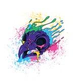 Owl Skull Photographie stock libre de droits
