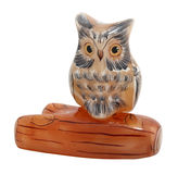 Owl souvenir. Isolated on white, clipping path is included Royalty Free Stock Photo