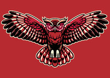 Owl spreading the wings. Vector of owl spreading the wings vector illustration