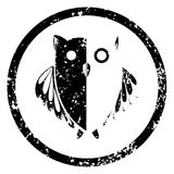 Owl stamp Royalty Free Stock Photography