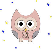 Owl and stars Royalty Free Stock Photo