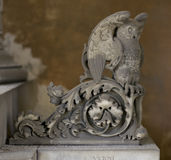 Owl Statue (abstract Element Pattern) Stock Image