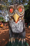 Owl Statue from Hell in Wat Thailand Stock Photography