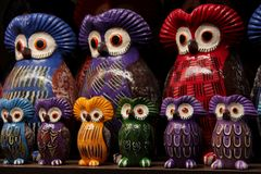 Owl Statues Stock Image