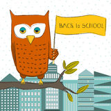 Owl Student Royalty Free Stock Photography