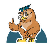 Owl student graduation. Illustration of Owl student graduation Stock Photo
