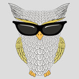 Owl with sunglasses Royalty Free Stock Photos