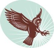 Owl swooping Stock Photo