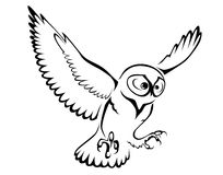 Owl symbol Stock Photo