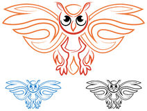 Owl symbol Stock Photos