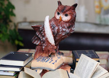 Owl - symbol of knowledge and science. Owl - a symbol of knowledge and science Stock Image