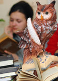 Owl - symbol of knowledge and science. Owl - a symbol of knowledge and science Stock Photography