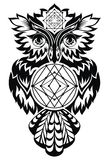 Owl. Tattoo design Royalty Free Stock Images