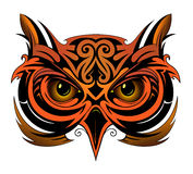 Owl tattoo shape. As tattoo element Stock Images