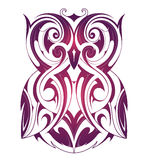 Owl tattoo shape Royalty Free Stock Photos