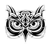 Owl tattoo shape Royalty Free Stock Photography