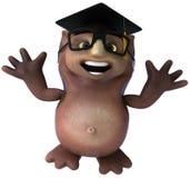 Owl teacher Royalty Free Stock Image