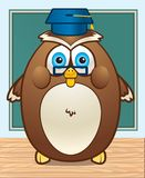 Owl Teacher. An owl with glasses and a graduation cap Royalty Free Stock Photography