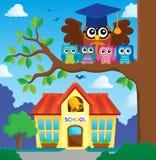 Owl teacher and owlets theme image 6 Royalty Free Stock Photos