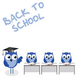 Owl teacher and pupils Royalty Free Stock Photos