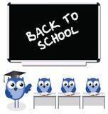 Owl teacher and pupils Stock Image