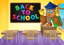 Owl teacher theme image 3 Royalty Free Stock Images
