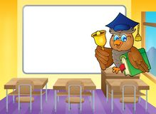Owl teacher theme image 4 Royalty Free Stock Image