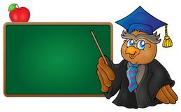 Owl teacher theme image 7 Royalty Free Stock Images