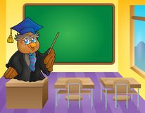 Owl teacher theme image 9 Royalty Free Stock Photo